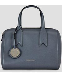 Lyst - Emporio Armani Mini Bowling Bag in Gray 69aa3205be10d