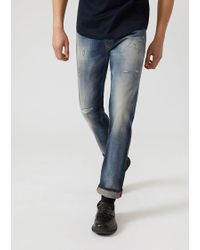 Emporio Armani - Slim Jeans - Lyst