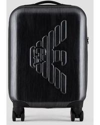 Emporio Armani - Rolling Suitcase - Lyst