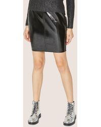 Armani Exchange - Seamed Patent Pencil Skirt - Lyst