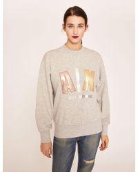 Armani Exchange - Metallic Applique Sweatshirt - Lyst