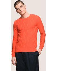 Armani Exchange - Geometric Logo Layering Sweater - Lyst