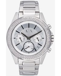Armani Exchange - Women Quartz/multifunction Stainless Steel Watch - Lyst