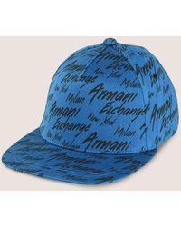 a0dfc7cea34 Lyst - Armani Exchange Men s Logo Beanie in Blue for Men