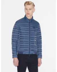 Armani Exchange - Jacket With Real Feather Padding - Lyst