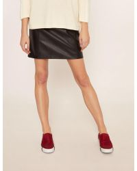 Armani Exchange - Faux-leather Seamed Metallic Skirt - Lyst