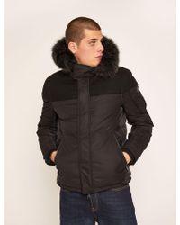 Armani Exchange - Faux Fur-lined Hooded Melton Parka - Lyst
