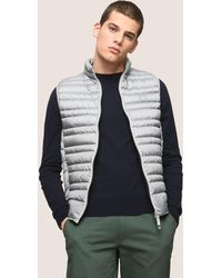 Armani Exchange - Funnelneck Channel-quilted Puffer Vest - Lyst