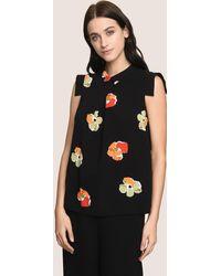 Armani Exchange - Pop-art Floral Blouse - Lyst