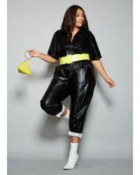 3eb7335550e14 Lyst - Ashley Stewart Plus Size Corset Waist V Neck Jumpsuit in Black