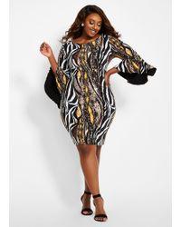 Ashley Stewart - Plus Size Four Way Convertible Dress - Lyst