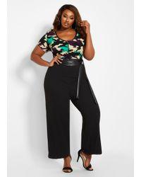 b9348f389e3 Ashley Stewart - Plus Size Tall Zip-front Camo Print Jumpsuit - Lyst