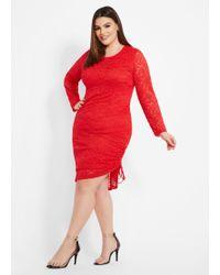 34568dde18f15 Lyst - Ashley Stewart Plus Size Me By Emme® Mock Neck Striped Maxi ...