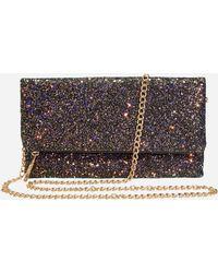 Ashley Stewart - Glitter Clutch With Chain Strap - Lyst