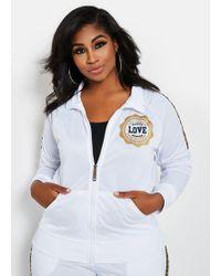 4bdad10f96 Ashley Stewart - Plus Size Love Foil Zip Active Jacket - Lyst