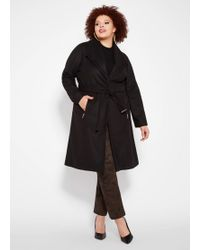 3b6b46eeec6 Lyst - Calvin Klein Plus Size Single-button Trench Coat in Natural