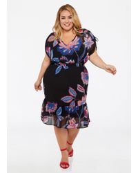 b2093ff3aff Lyst - Almost Famous Trendy Plus Size Floral-print Midi Dress in Pink