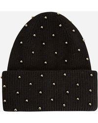 Ashley Stewart - Studded Knit Beanie - Lyst