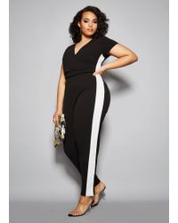 71b0548c864e Lyst - Ashley Stewart Plus Size The Donna Jumpsuit in Black