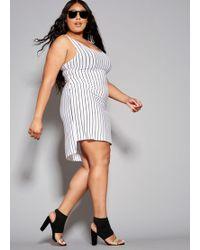 Lyst - Ashley Stewart Plus Size Hanky Hem Tank Dress in Gray