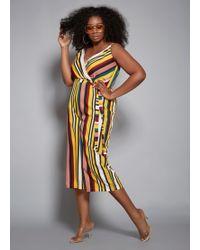 7e266b4bfad4 Ashley Stewart - Plus Size The Sass Jumpsuit - Lyst
