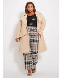 921377737382a Lyst - Ashley Stewart Plus Size Double Ruffle Faux Leather Jacket in ...