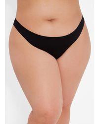 0349dcd288 Lyst - Ashley Stewart Plus Size Long Sleeve Mesh Bikini Top in Black