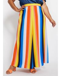 eb586ae5af Ashley Stewart Plus Size Floral Lace Mermaid Maxi Skirt in White - Lyst