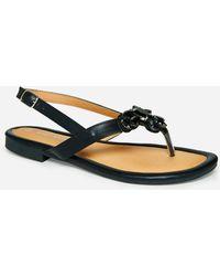 e4bdcdfbf Lyst - Michael Kors Michael Jayden Jeweled Jelly Flat Thong Sandals ...
