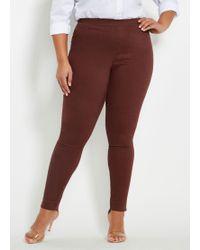 ac12dd3710f61 Ashley Stewart - Plus Size Twill Pull On Skinny Pant - Lyst