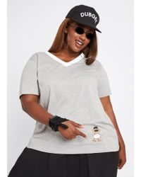 b5fada511 Ashley Stewart - Plus Size Dubgee By Whoopi Dancing Baby Graphic Tee - Lyst