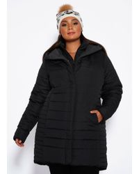 4bfce64495e Lyst - Ashley Stewart Plus Size Double Breasted Faux Fur Collar Coat ...