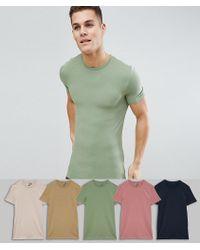 Stretch De Moulants Longs Shirts Avec 5 Cou T Ras Lot Economie SqVMpUz