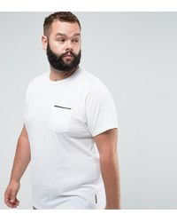 French Connection - Tipped Pocket T-shirt White - Lyst
