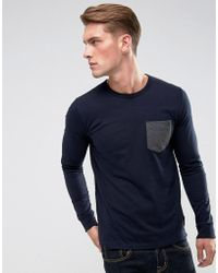 French Connection - Long Sleeve Pocket Top - Lyst