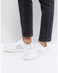 SELECTED - Leather & Suede Trainer - Lyst