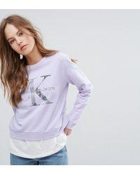 CALVIN KLEIN 205W39NYC - Jeans Long Sleeve Sweatshirt - Lyst