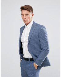 Moss Bros - Moss London Skinny Suit Jacket In Fleck - Lyst