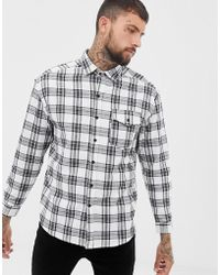 Good For Nothing - Oversized Check Shirt In Black - Lyst