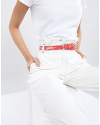 Pieces - Western Embroidered Belt - Lyst