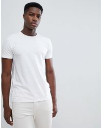 Esprit - Organic Muscle Fit T-shirt In White - Lyst