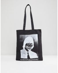 Cheap Monday - Funny Face Tote Bag - Lyst