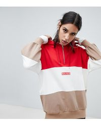 NA-KD - Colour Block Oversized Logo Hoodie - Lyst