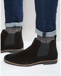 Red Tape - Chelsea Boots Black Suede - Lyst