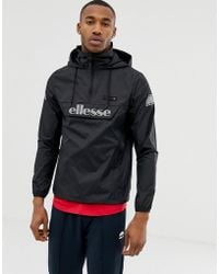 9798ba3060e Ellesse - Ion Overhead Jacket With Reflective Logo In Black - Lyst