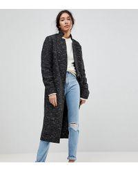 ASOS - Oversized Coat In Textured Fabric - Lyst