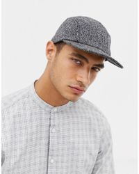 SELECTED - 5 Panel Twill Cap - Lyst