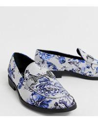 be358afa7131cd ASOS - Loafer mit mehrfarbigem Blumenmuster und Trensendesign - Lyst