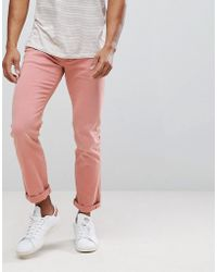 Tommy Hilfiger - Bleecker Slim Fit Jeans In Washed Pink - Lyst