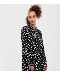 Collusion - Spot Print Mini Smock Dress - Lyst